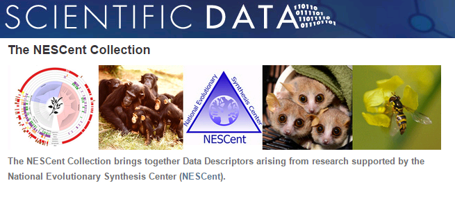 NESCent Data Descriptors are now available